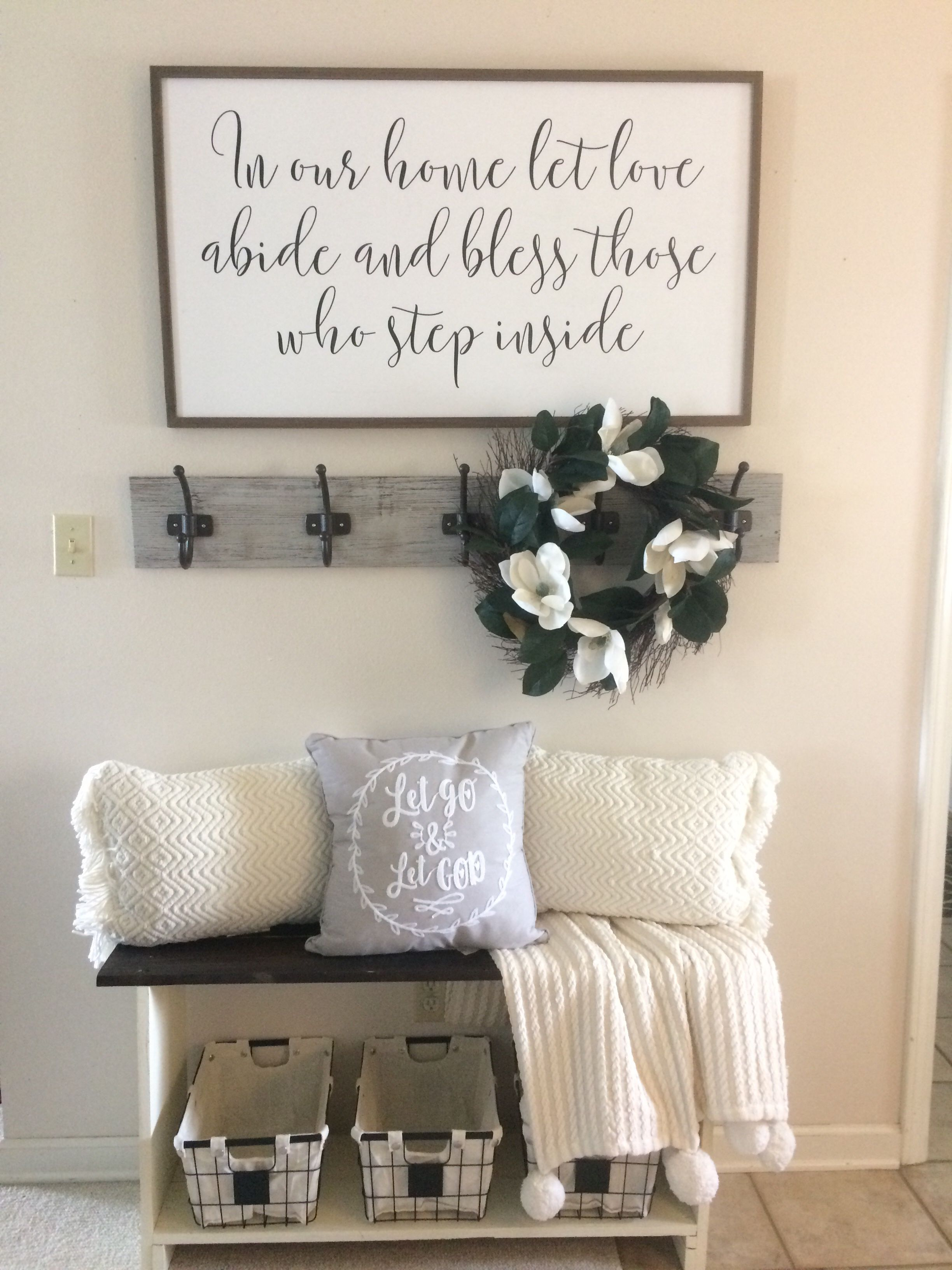In Our Home Let Love Abide And Bless Those You Step Inside Decor