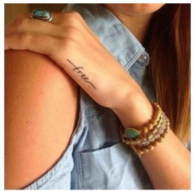 Kinda like this placement for a tiny tattoo