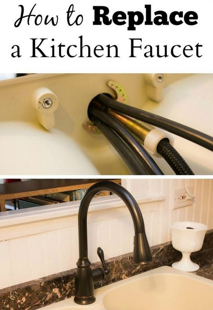 How To Replace A Moen Kitchen Faucet With Sprayer ...