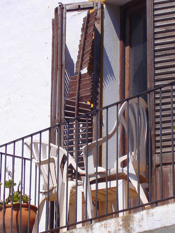 Balcó i cadires