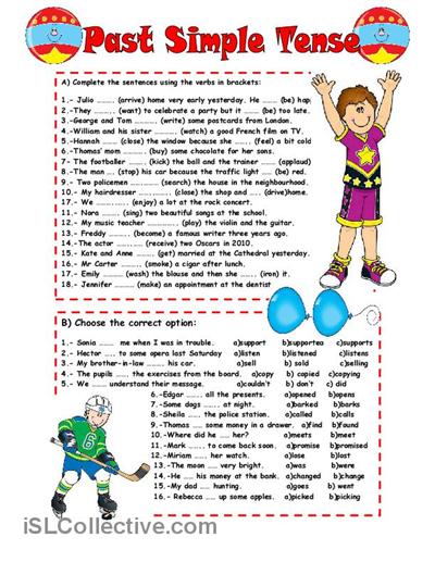 Past Simple Tense Worksheet Free Esl Printable Worksheets Made By