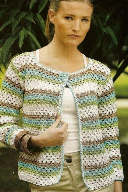 Granny Stitch Crochet Cardigan Pattern | Häkeln anleitung, Häkeln ...