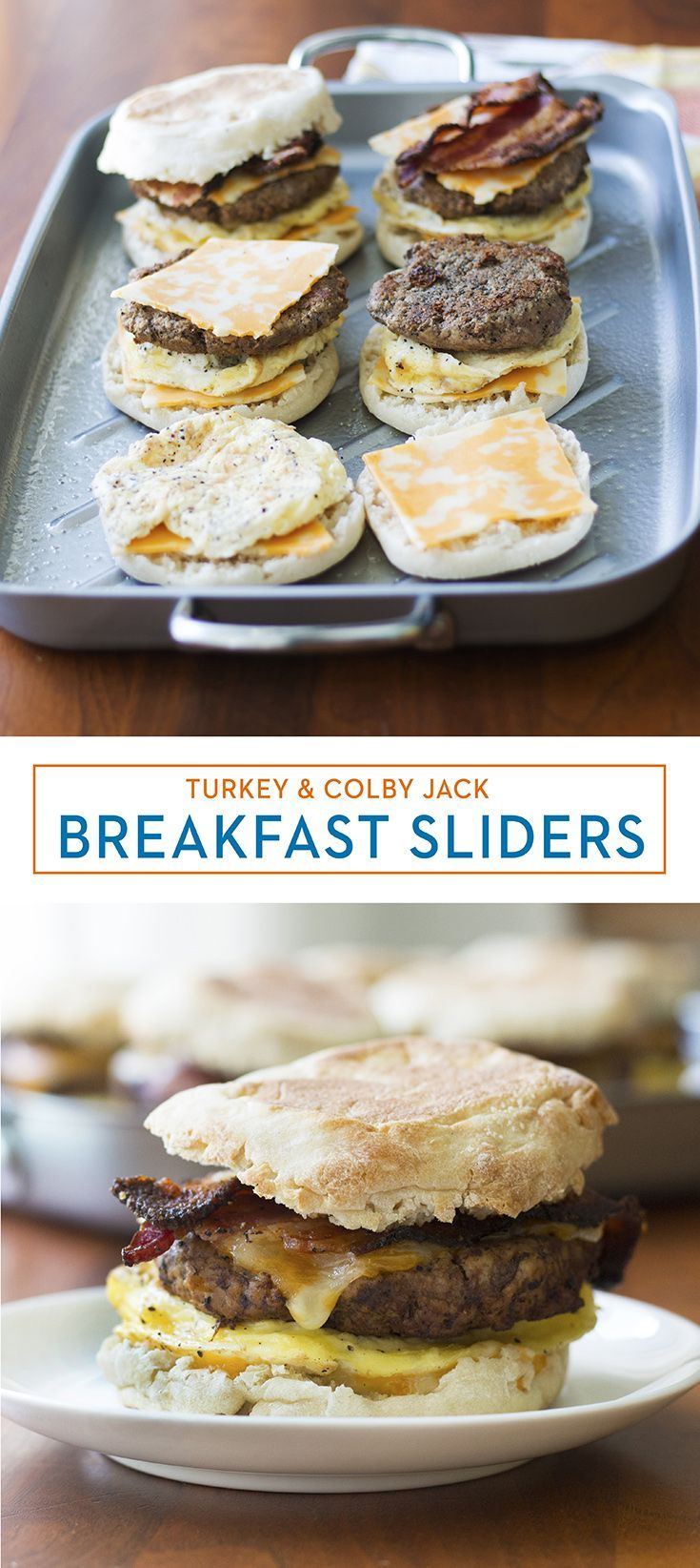 Turkey & Colby Jack English Muffin Sliders Turkey & Colby Jack English Muffin Sliders