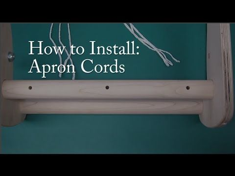Learn how to install your apron cords for your Schacht Cricket Loom