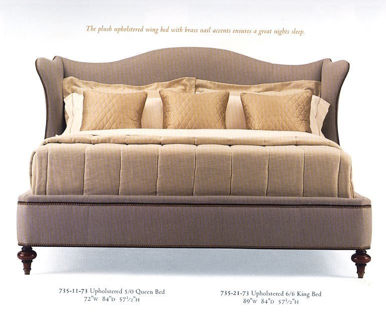 Upholstered Wing Head Board Bdb 8 9 735 21 Wing Chair Headboard Upholstered Complete French Style Bed Bedroom Headboard Upholstered Beds