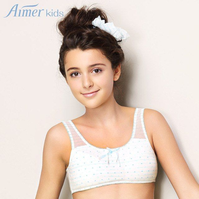 03ff1d0d80 Aimer children newly worshiper arrival mdash small fresh young vest design  non-woven bra aj115052