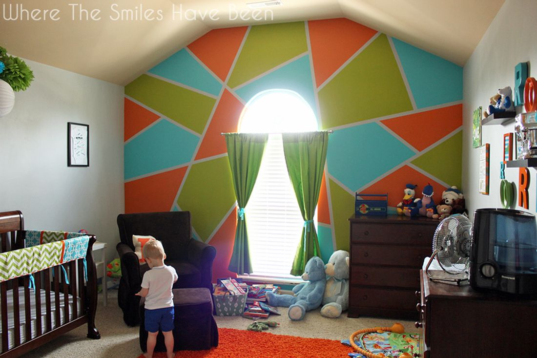 Bright and Bold Accent Wall! | Where The Smiles Have Been