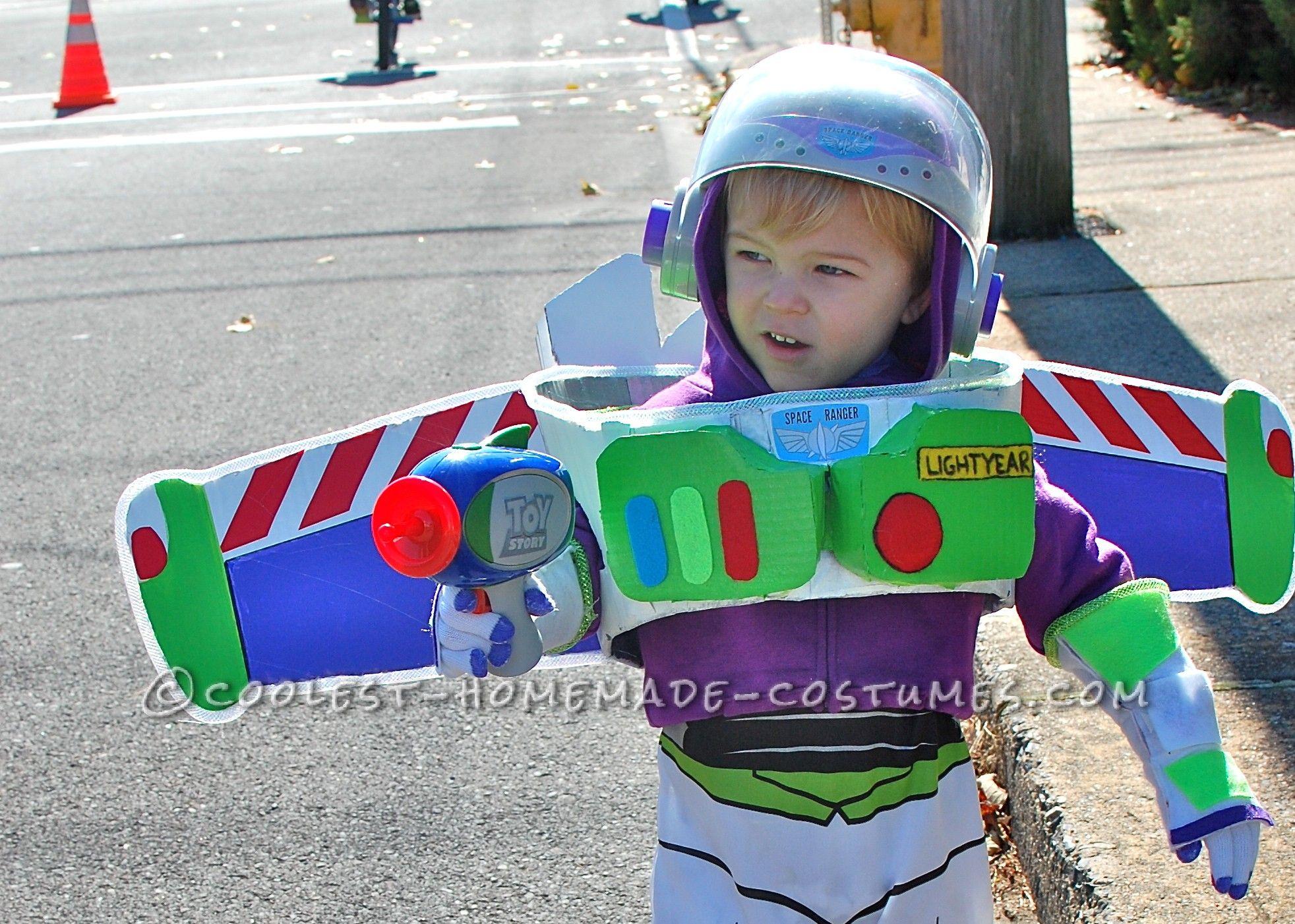 68b57e751e7 No-Sew Buzz Lightyear Costume for a Toddler | Coolest Homemade ...