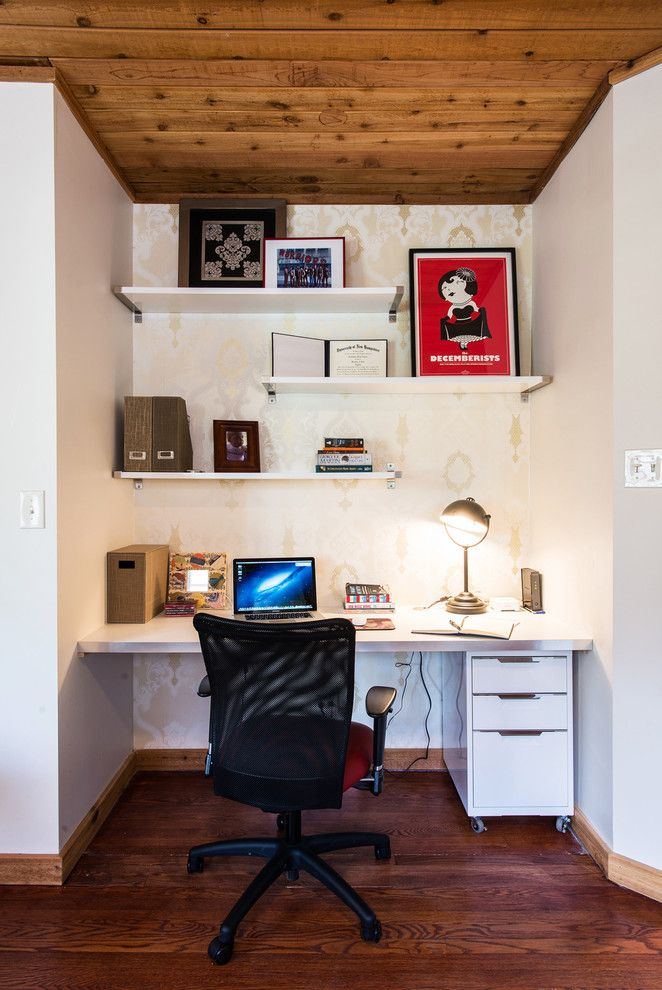 Appealing Home Office Contemporary Design Ideas For Closet Office Desk Image Gallery Contemporary Home Office Home Office Shelves Small Office Design