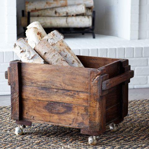 Rolling Wood Box For Wood Wood Storage Box Indoor Firewood Rack