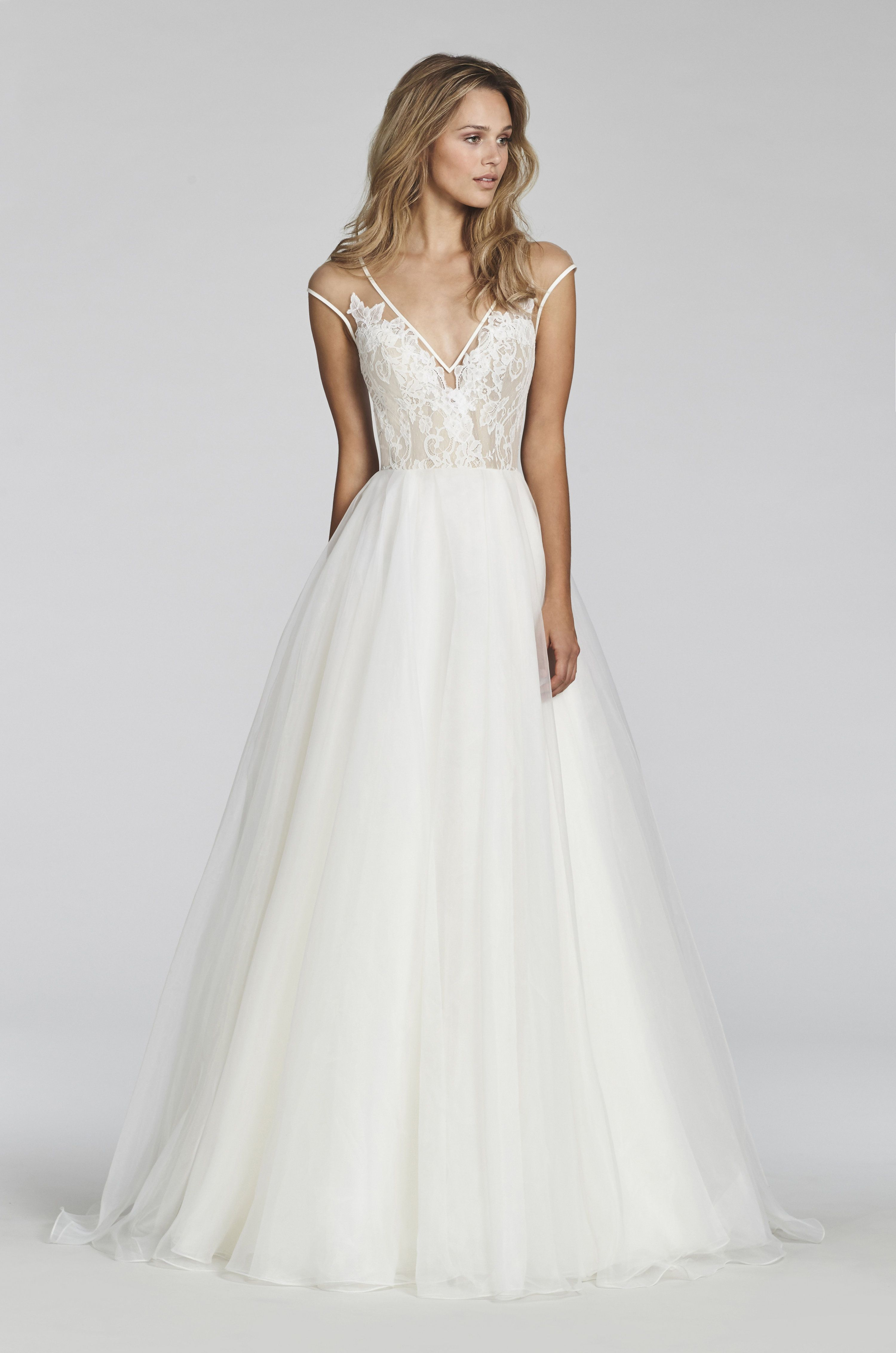 Lace keyhole back wedding dress  Bridal Gowns and Wedding Dresses by JLM Couture  Style  Val