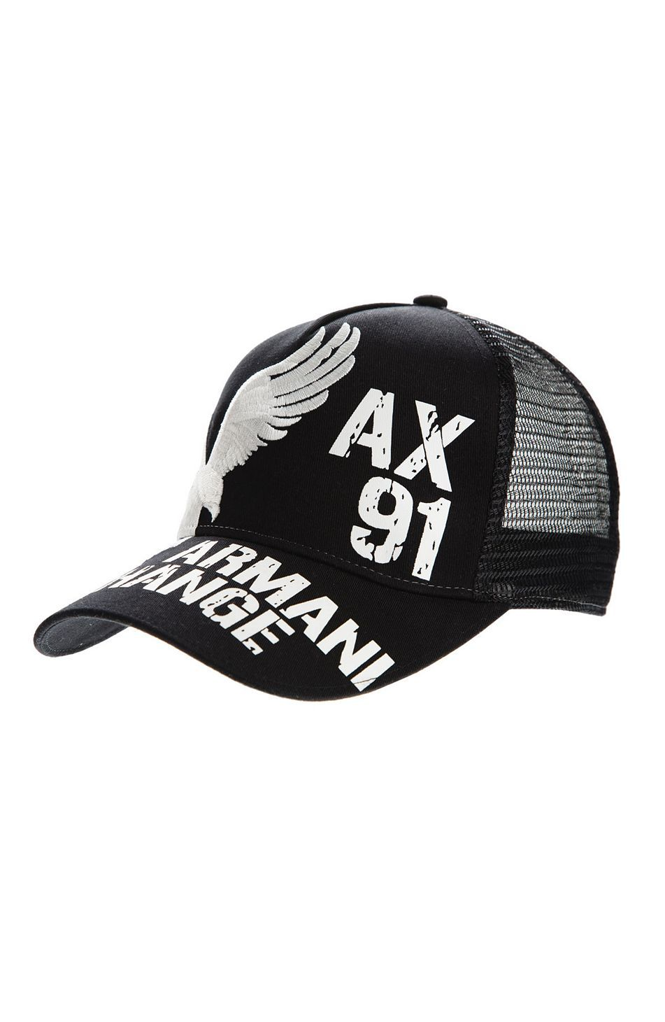 Eagle Baseball Hat - Hats - Accessories - Armani Exchange  05d4312854ad