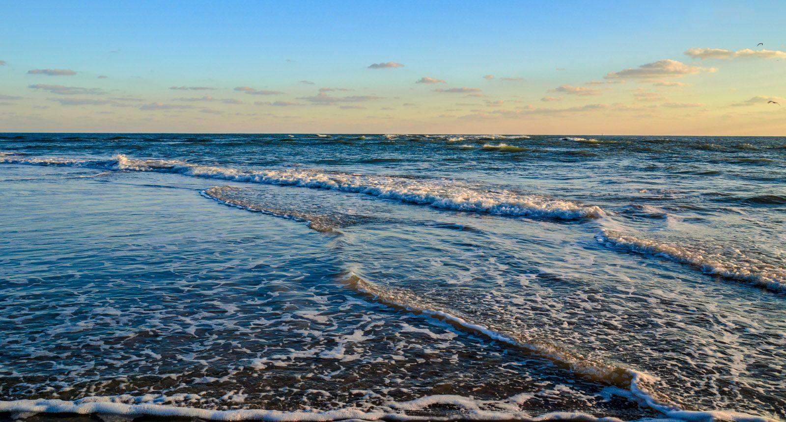 November evening on the beach near the Point on Emerald Isle, NC