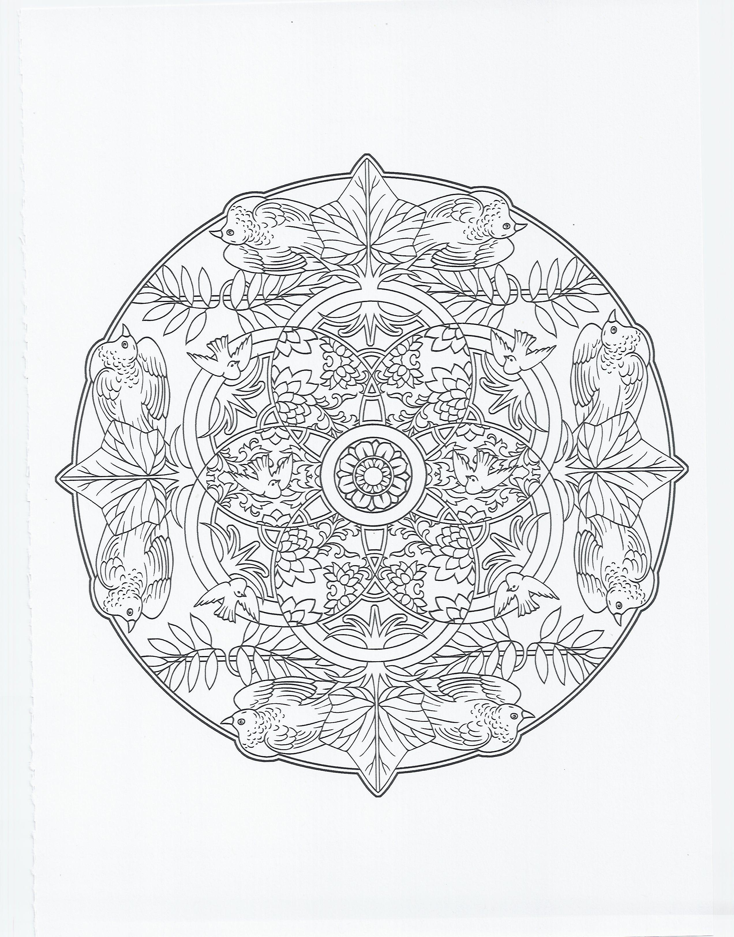 animal mandala bird coloring pages pinterest mandala mandalas and art techniques. Black Bedroom Furniture Sets. Home Design Ideas