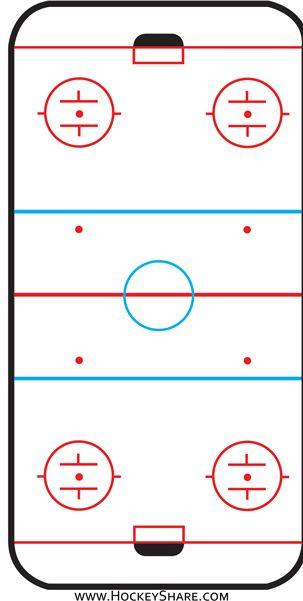 Hockey Rink Printable From Www Hockeyshare Com Hockey Party Hockey Cakes Ice Hockey