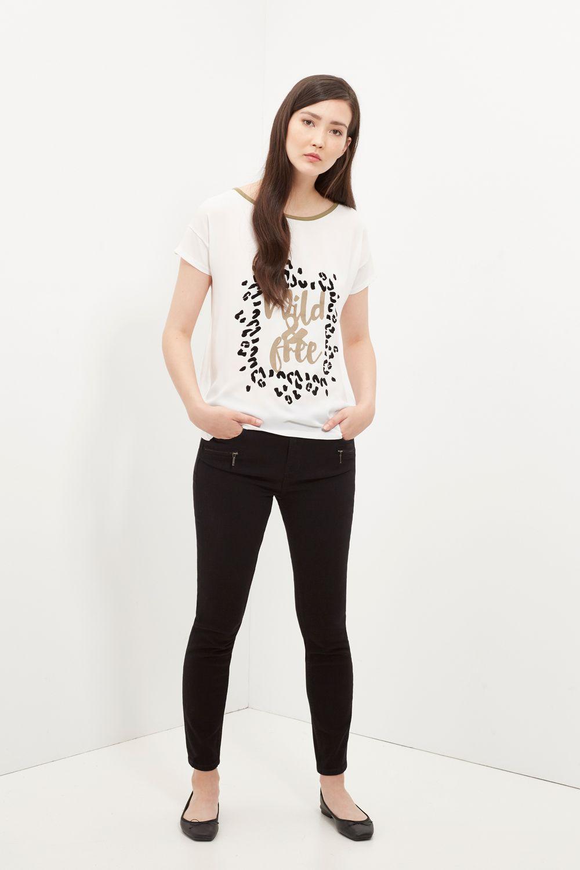 Cortefiel Camiseta Manga Corta Camisetas Ropa Moda Para Mujer