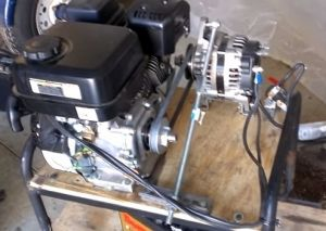 homemade generator. Fine Generator Generator  Homemade Generator Constructed From A Gasoline Engine 165amp  Alternator And Surplus Inverter In U