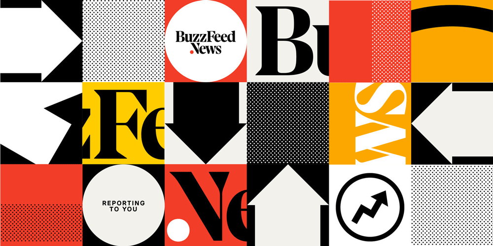 New Logo For Buzzfeed News Facebook Cover Design Business Logo Creator Business Logo Design