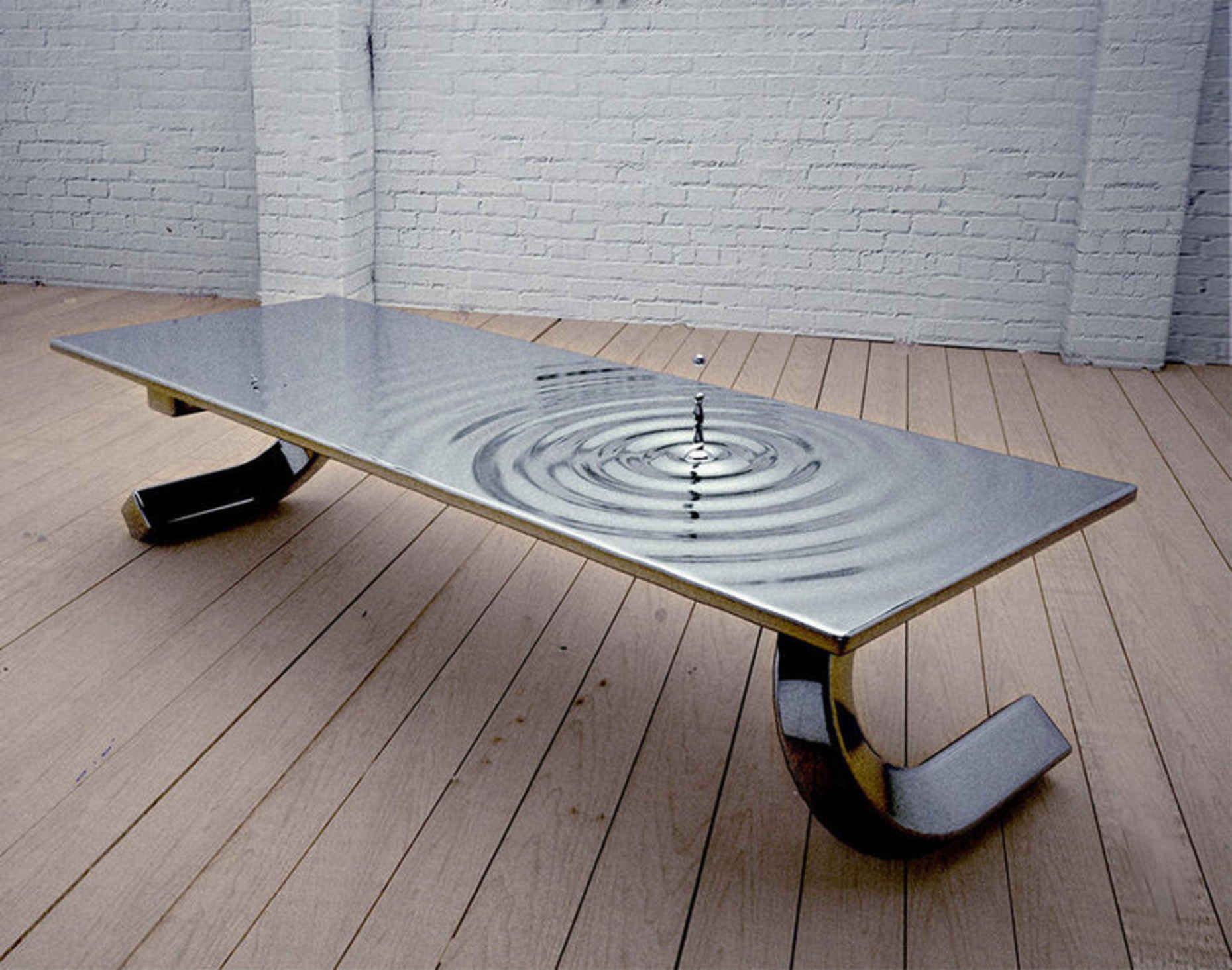 Bizarrely Cool Liquid Metal Coffee Tables Cool Tables Modern