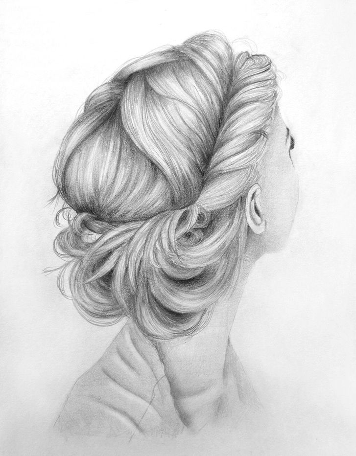 Lovely Hair Up Do Sketch How To Draw Hair Hair Sketch Hair