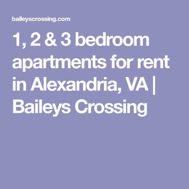 2 Bedroom Apartments For Rent Manhattan: 1, 2 & 3 Bedroom Apartments For Rent In Alexandria, VA