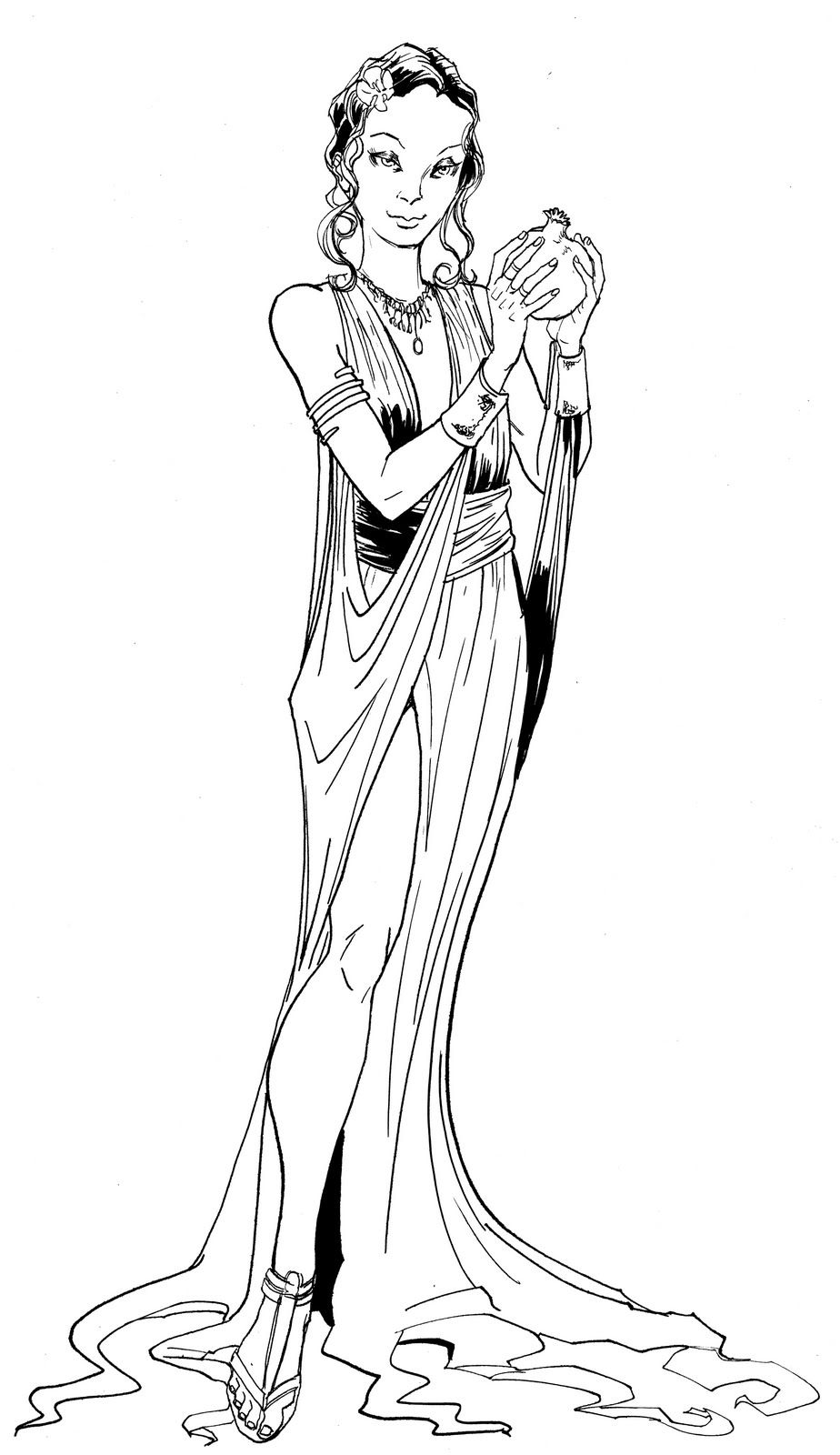 Persephone coloring pages 12 pinterest for Hades coloring page