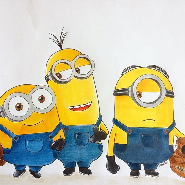 Awesome Minion Drawing By At Vdwelleke Using Their Chameleon Pens