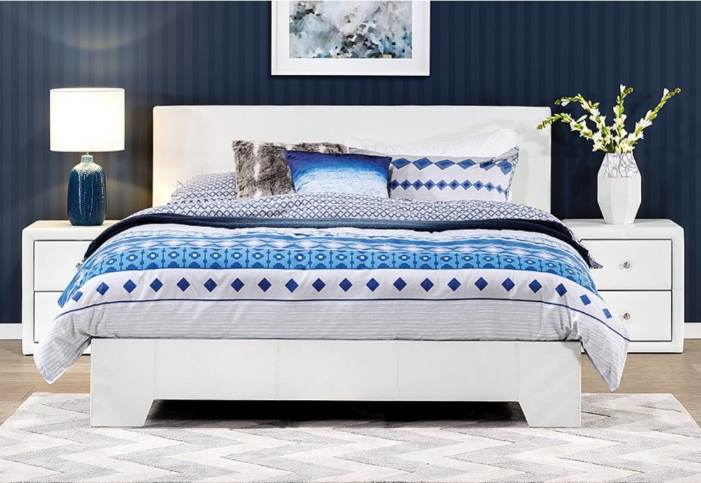 Monroe Double Bed Contemporary Bed Furniture Queen Upholstered Bed Bed Decor