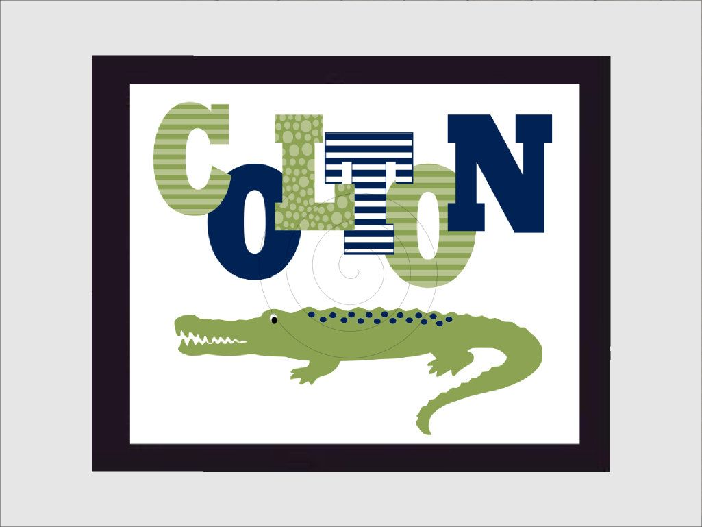 Nursery Print - Alligator Nursery - Pottery Barn Nursery - Pottery ...