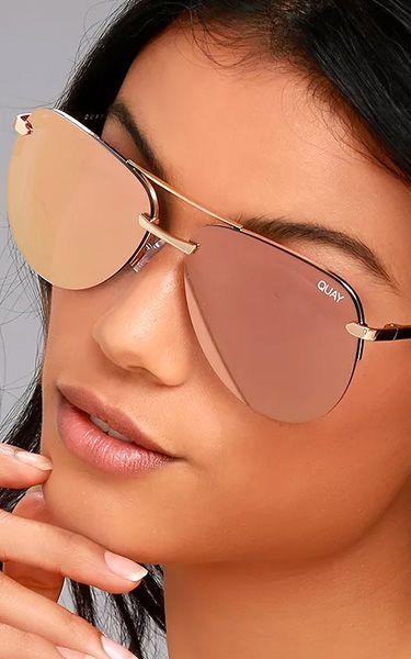 9aac2d4b4dc Quay The Playa Gold And Pink Aviator Sunglasses  bestfashionhq