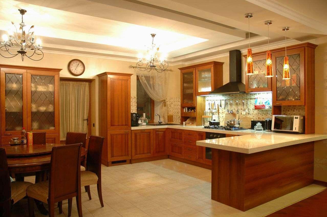 Интерьер кухня столовая в частном доме фото   Кухни   Pinterest