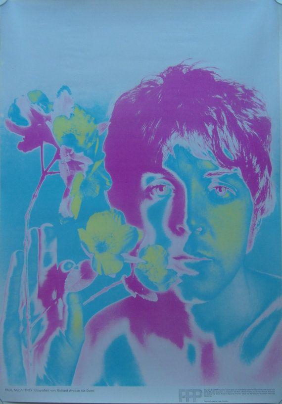 ORIGINAL POP ART POSTER OF PAUL MCCARTNEY RICHARD AVEDON FOR STERN 1967 BEATLES