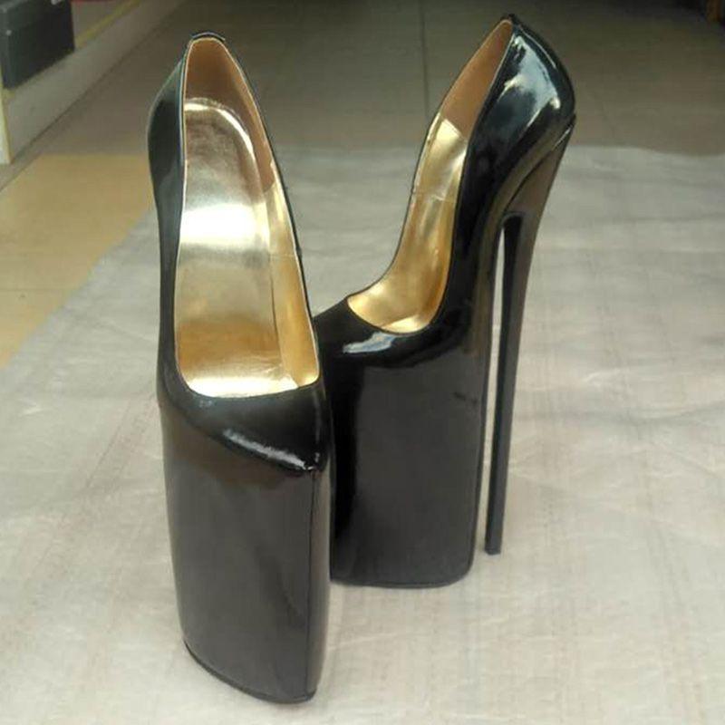 New design genuine leather pump EXTREME high HEEL high heel platform women  shoes Sexy fetish high Heels sexy pump(China (Mainland))