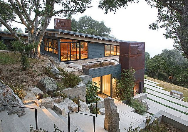 Ocho House Architecture Houses On Slopes Hillside House
