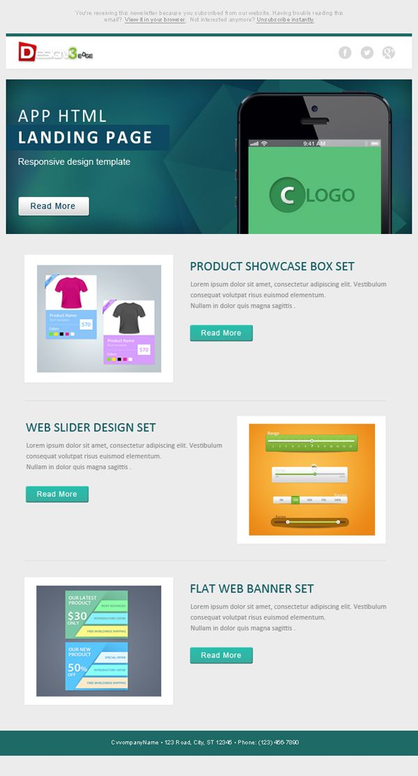 Flat Email Template Design Psd Email Template Design Email