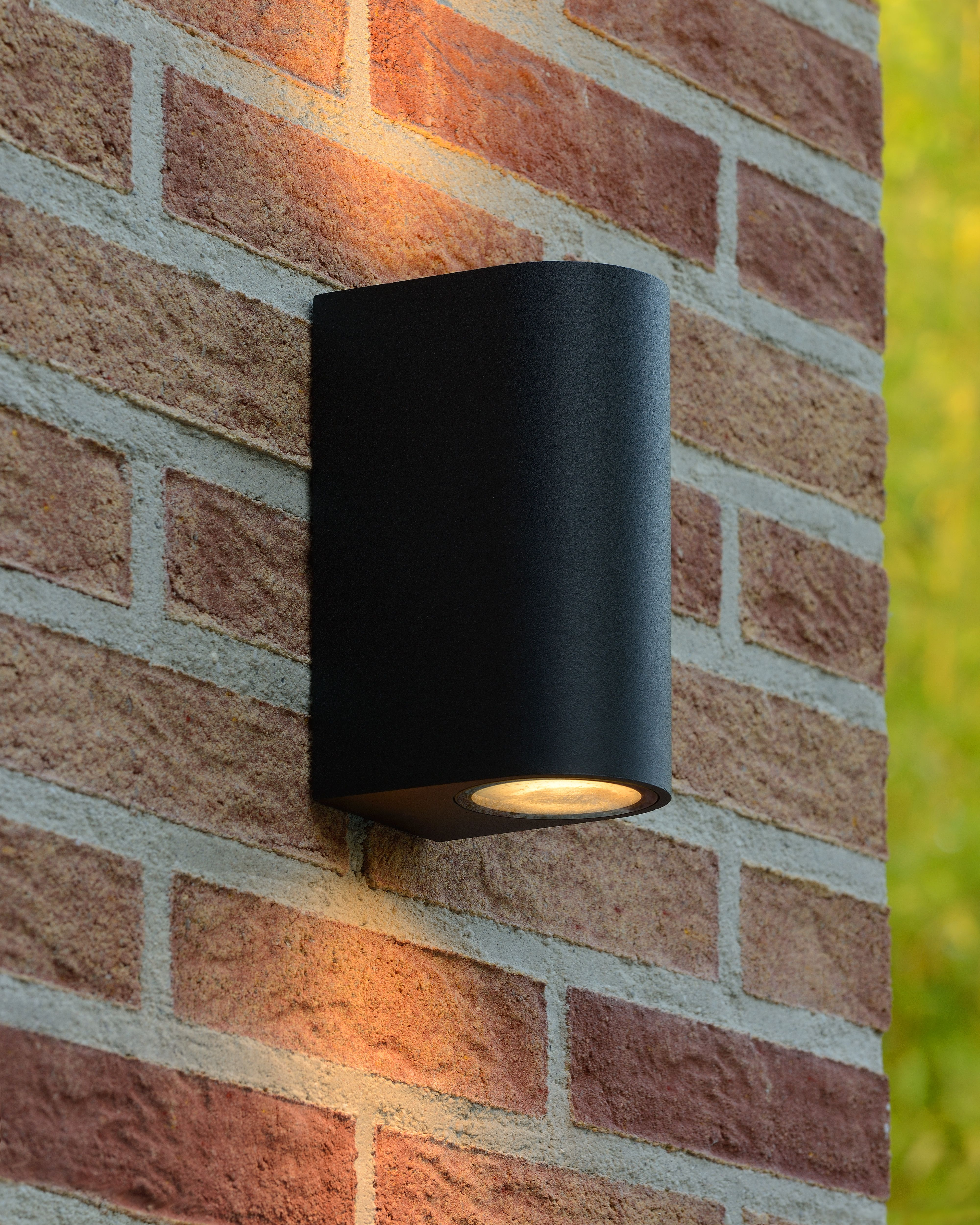 Lucide Zora Led Wall Spotlight Outdoor Led Dim Gu10 2x5w 3000k Ip44 Black Wandlamp Wandverlichting Muurverlichting