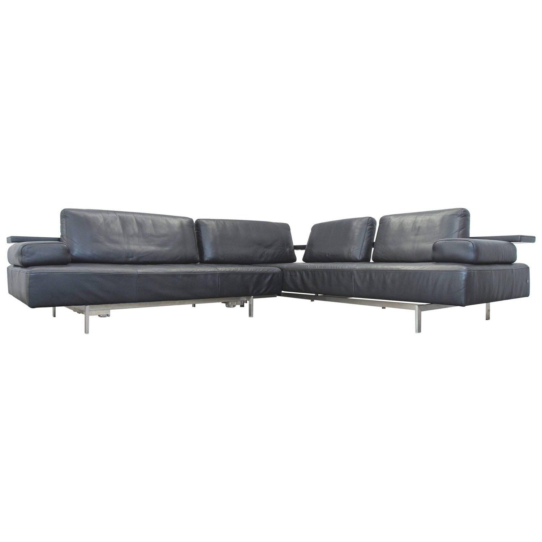 Rolf Dono rolf dono designer leather corner sofa black function modern