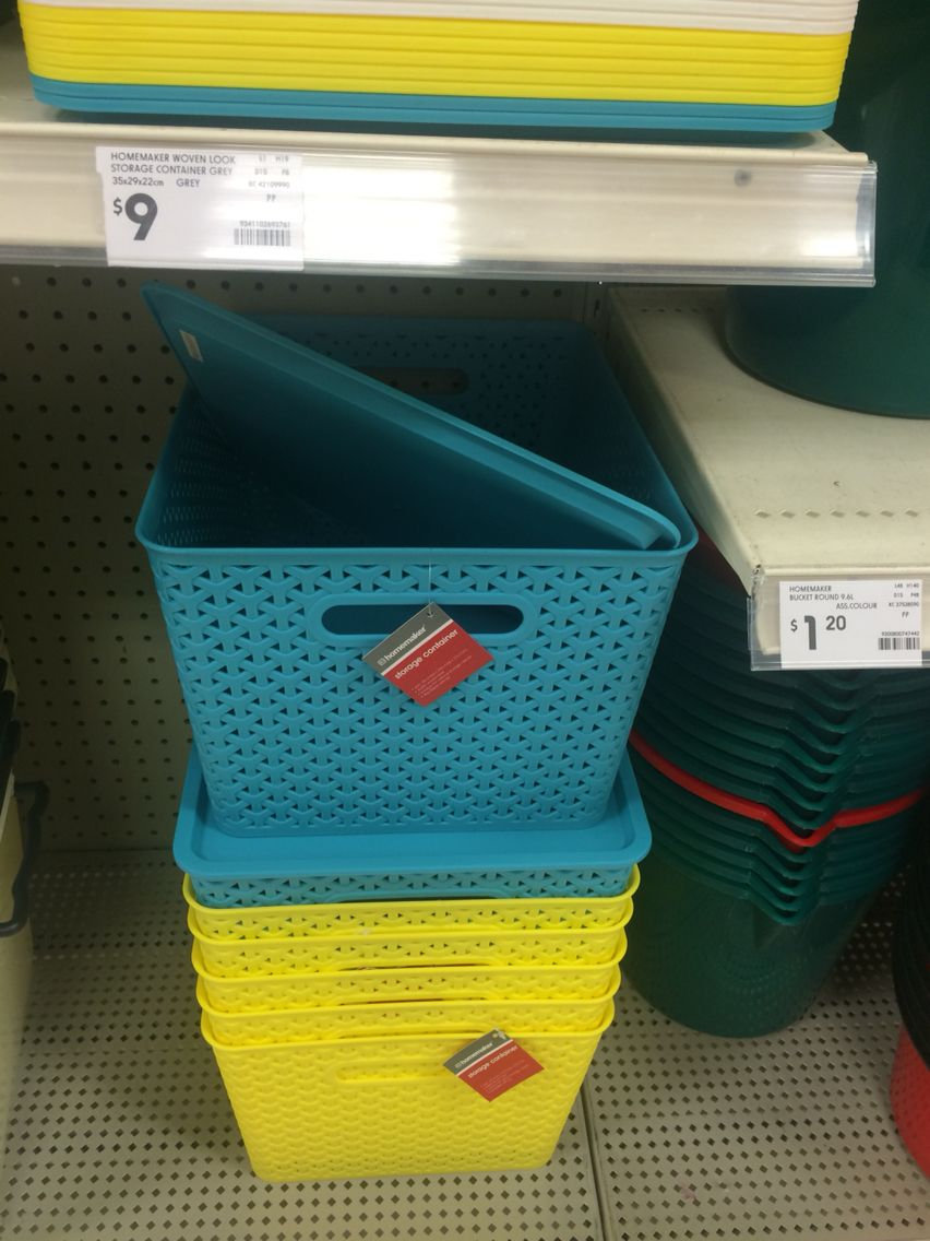 Cool Coloured Storage Containers With Lids. Could Be Useful For Hallway  Cupboard As Thereu0027s No