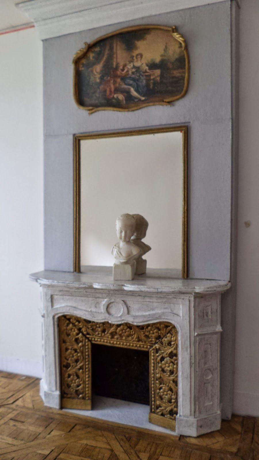 Maison française Dollhouse interiores Pinterest