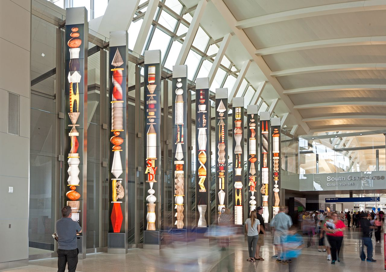 The Portals are a large-scale, permanent public multimedia installation in  the new Tom Bradley International Terminal at the Los Angeles…
