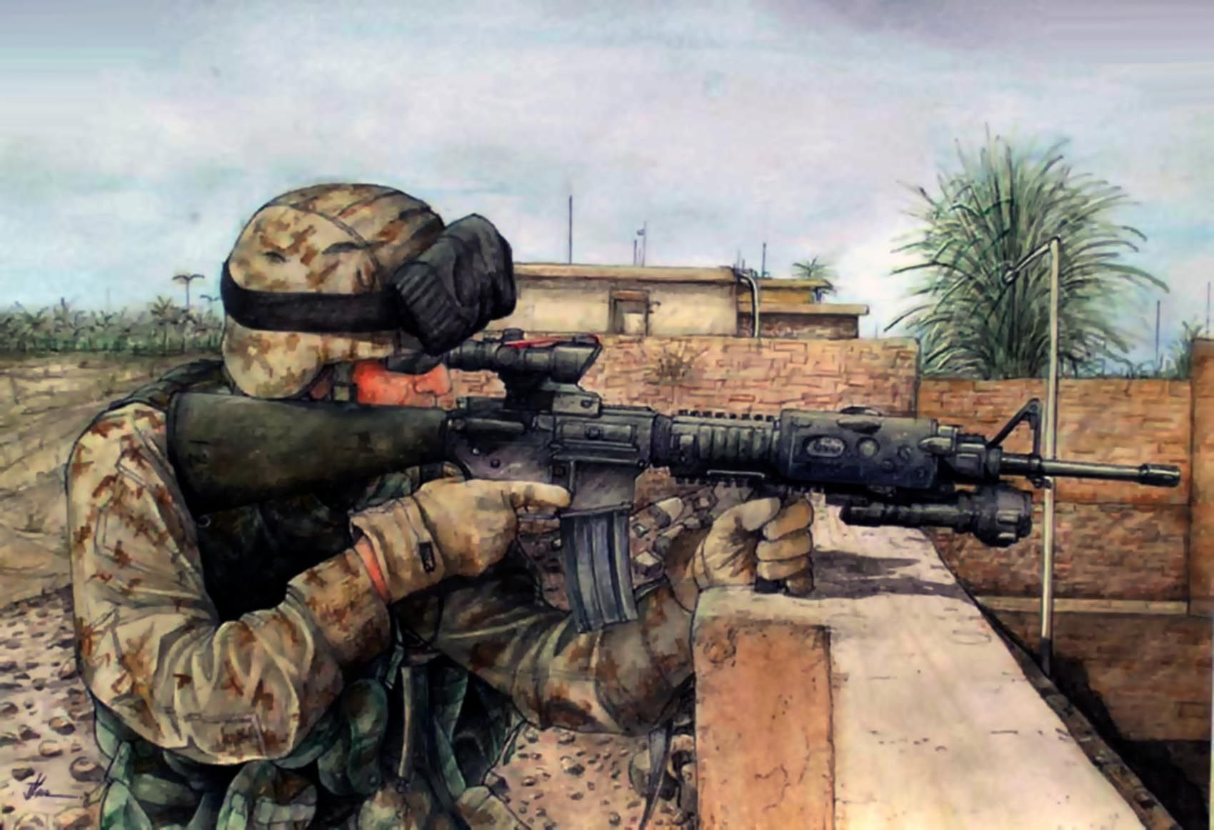 Iraq Combat Is Over And War Is History >> Us Marine In Iraq 21st Century War Art Military Art Afghanistan