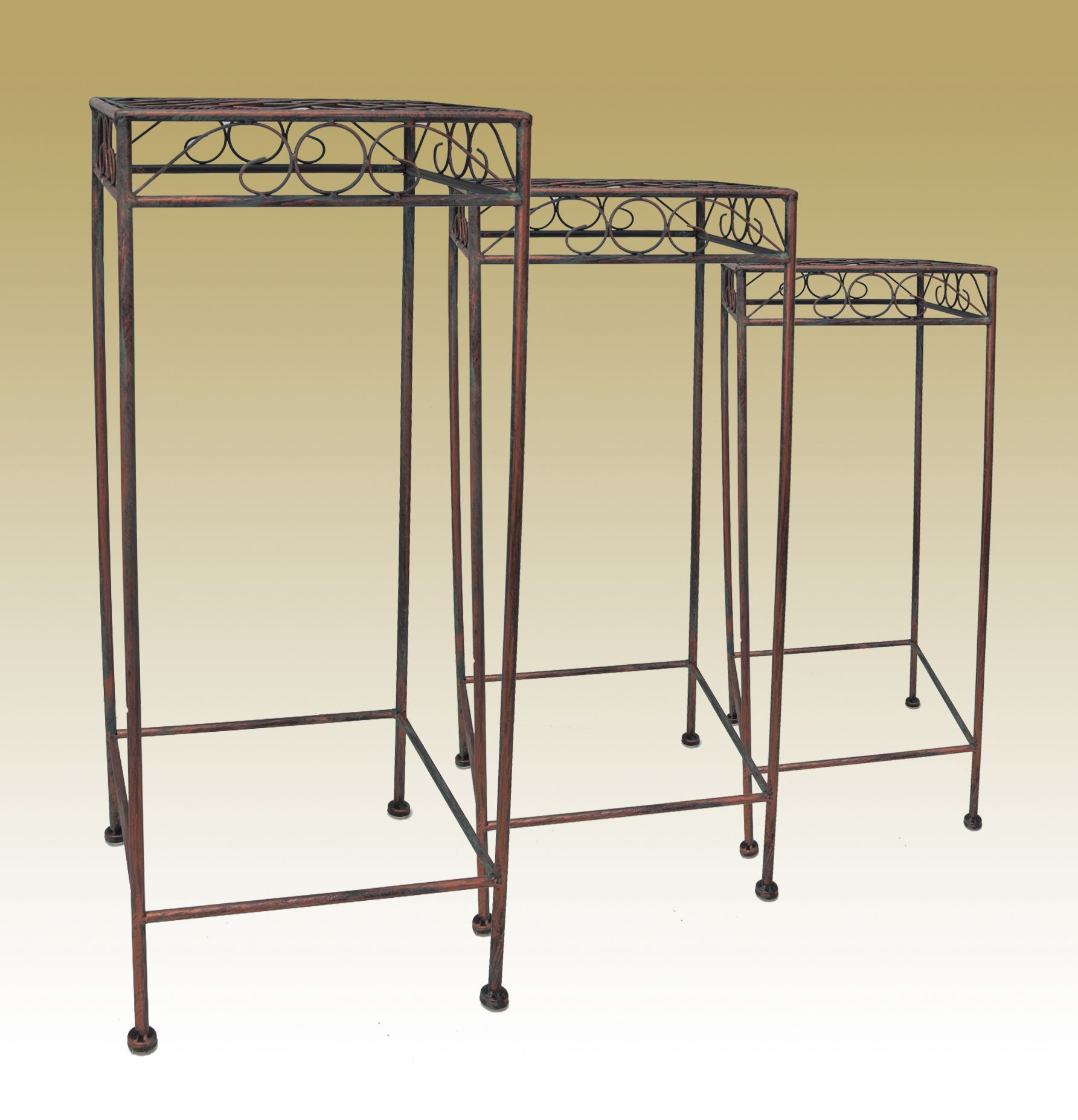 SQUARE PLANT STANDS AVAILABLE IN SMALL, MEDIUM, LARGE (36650-61)