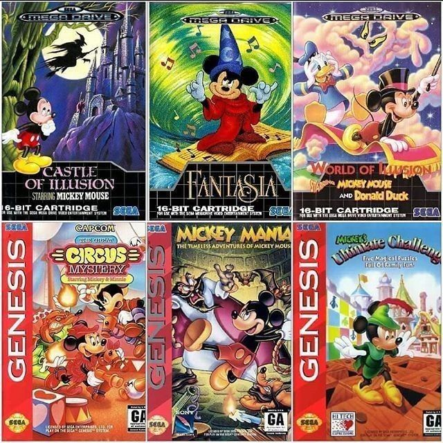 Mega Drive Mickey Mouse Series #fugretro #sega #16bit #videogames