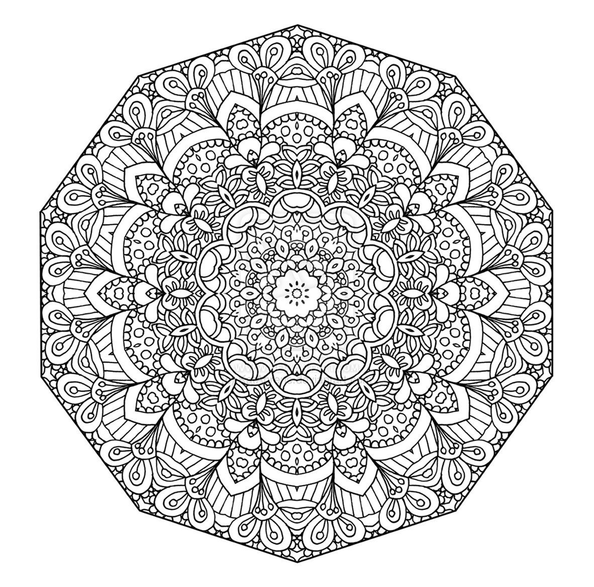 Mandala pages for coloring - Detailed Coloring Pages For Teenagers Detailed Abstract Coloring Pages For Teenagers Four More Mandala