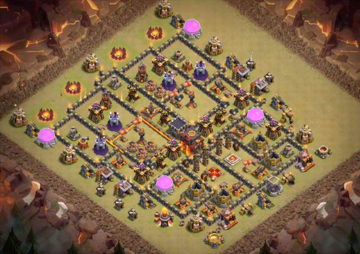 Coc Th 10 War Base Anti 3 Star 4