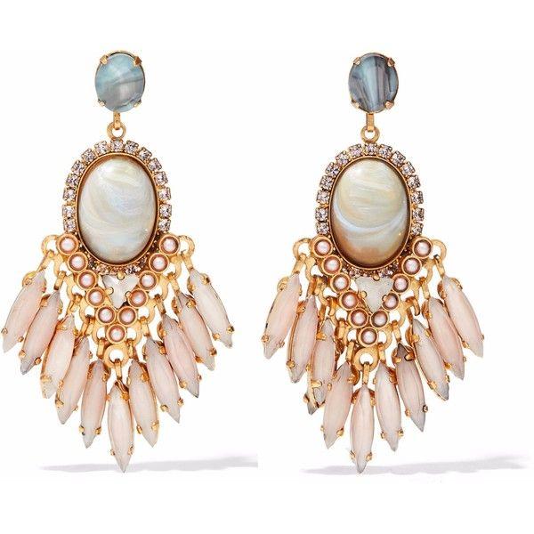 Elizabeth Cole Woman Gold-tone, Faux Pearl And Crystal Earrings Mushroom Size Elizabeth Cole
