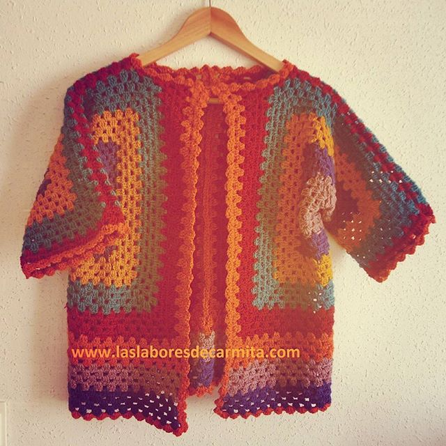 Chaqueta primaveral crochet paso a paso en español…