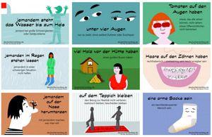 deutsche redewendungen mit bildern lernen umgangssprache lernen deutsch unterricht rs su. Black Bedroom Furniture Sets. Home Design Ideas
