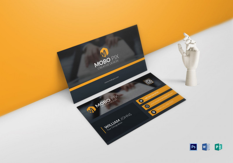 2 Sided Business Card Template Word Unique Double Sided Business Card Double Sided Business Cards Business Card Template Word Business Card Template Photoshop