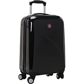 Black Polycarbonate, Hard Plastic Carry On, Lightweight Luggage ...